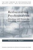 Rediscovering Psychoanalysis (eBook, PDF)