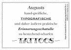 Augusts Erinnerungsschatulle Tattoos