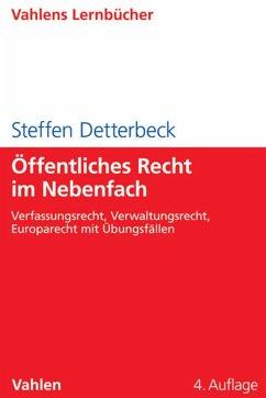 Öffentliches Recht im Nebenfach (eBook, PDF) - Detterbeck, Steffen