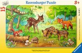 Ravensburger 063765 - Tierkinder des Waldes, Rahmenpuzzle 15 Teile
