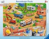 Ravensburger 060580 - Arbeit auf der Baustelle, Rahmenpuzzle 12 Teile
