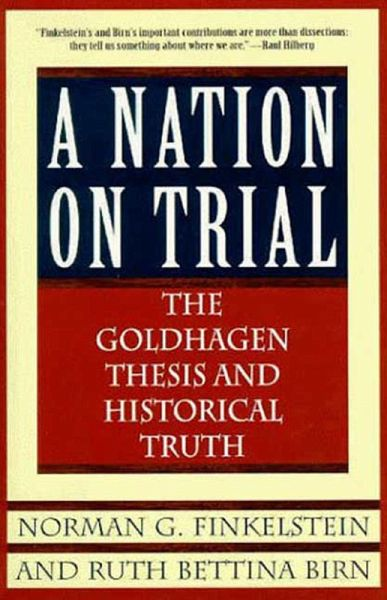 the goldhagen thesis and historical truth