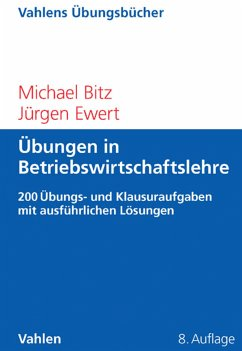 Übungen in Betriebswirtschaftslehre (eBook, PDF) - Bitz, Michael; Ewert, Jürgen