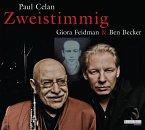Zweistimmig - Hommage an Paul Celan, 1 Audio-CD (Mängelexemplar)