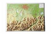 Bayerisches Oberland, Reliefkarte, Klein