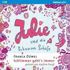 Julie und die Schwarzen Schafe / Schlimmer geht's immer Bd.2 (MP3-Download) - Düwel, Franca