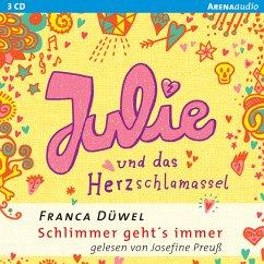 Julie und das Herzschlamassel / Schlimmer geht's immer Bd.3 (MP3-Download) - Düwel, Franca