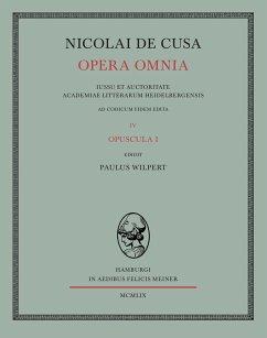 Nicolai de Cusa Opera omnia / Nicolai de Cusa Opera omnia. Volumen IV.