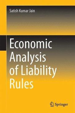 Economic Analysis of Liability Rules - Jain, Satish Kumar