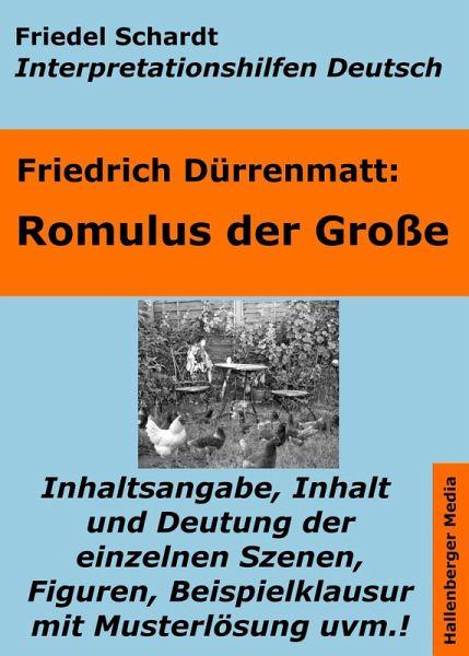 Romulus Der Große Lektürehilfe Und Interpretationshilfe