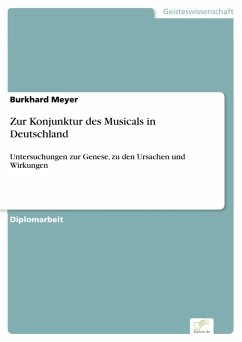 Zur Konjunktur des Musicals in Deutschland (eBook, PDF) - Meyer, Burkhard
