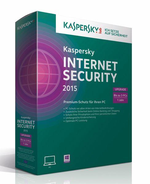 kaspersky internet security 2015 upgrade 3 lizenzen. Black Bedroom Furniture Sets. Home Design Ideas