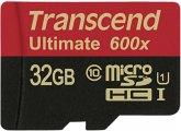 Transcend microSDHC MLC 32GB Class 10 UHS-I 600x + SD-Adapter