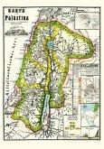 Historische Karte von PALÄSTINA 1869 (Plano)