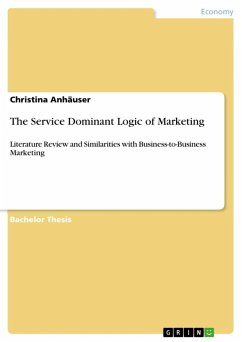 the service dominant logic of marketing literature review and similarities The objective of this article is to review the extant literature on service innovation in order to identify and evaluate different models of the innovation process in services in the new marketing-dominant logic, service provision rather than goods is fundamental to economic exchange.