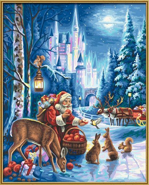 Der Weihnachtsmann Am Schloss Neuschwanstein Meisterklasse Premium