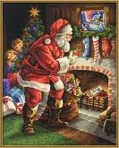 Noris 609300696 - Weihnachtsmann am Kamin