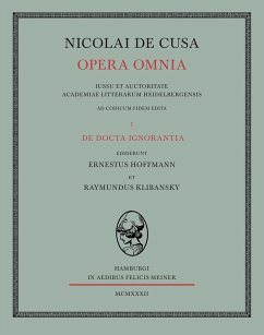 Nicolai de Cusa Opera omnia / Nicolai de Cusa Opera omnia. Volumen I.