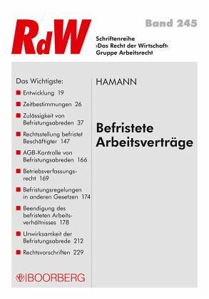 Befristete Arbeitsverträge von Wolfgang Hamann - Fachbuch - buecher.de