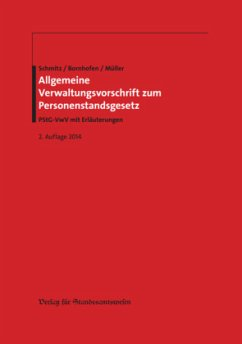 Allgemeine Verwaltungsvorschrift zum Personenstandsgesetz