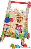 Knorrtoys 68690 - Play Pram Holzspielwagen, Lern-Spiel-Wagen aus Holz