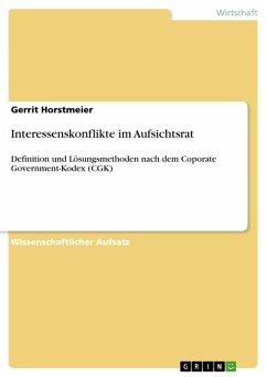 Interessenskonflikte im Aufsichtsrat (eBook, PDF)