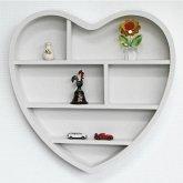 Holzregal Herz mit 6 Fächern