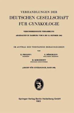 Vierunddreissigste Versammlung Abgehalten zu Hamburg vom 9. bis 13. Oktober 1962