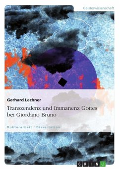 Transzendenz und Immanenz Gottes bei Giordano Bruno (eBook, ePUB)