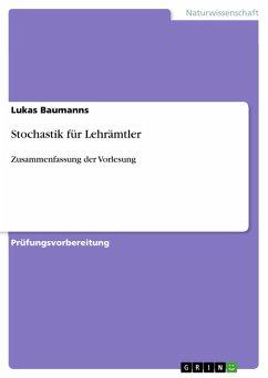 Stochastik für Lehrämtler (eBook, PDF)