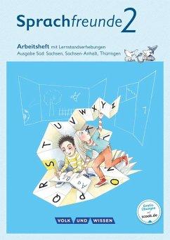 Sprachfreunde 2. Schuljahr. Arbeitsheft in Schulausgangsschrift. Ausgabe Süd - Kelch, Susanne; Knöfler, Andrea