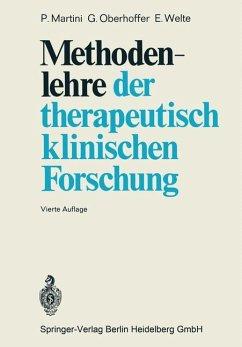 Methodenlehre der therapeutisch-klinischen Forschung