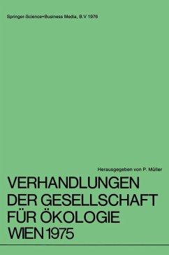 Verhandlungen der Gesellschaft für Ökologie Wien 1975
