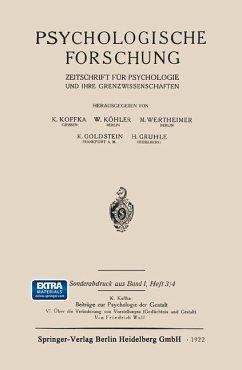Psychologische Forschung - Wulf, Friedrich