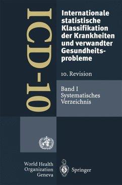 ICD-10: Internationale statistische Klassifikation der Krankheiten und verwandter Gesundheitsprobleme. 10. Revision