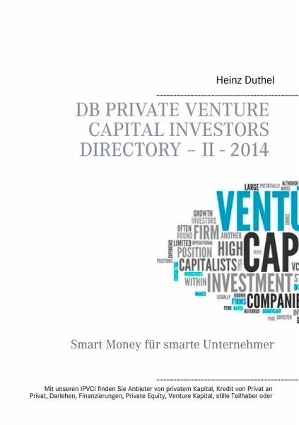 DB Private Venture Capital Investors Directory - II - 2014 (eBook, ePUB) - Heinz Duthel