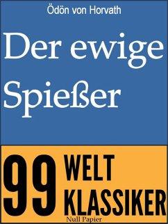 Der ewige Spießer (eBook, ePUB) - Horvath, Ödön von