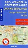 Rad-, Wander- & Gewässerkarte Dahme-Seen: Königs Wusterhausen, Teupitz
