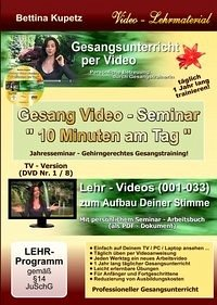 GESANG VIDEO - SEMINAR - DVD Nr. 1