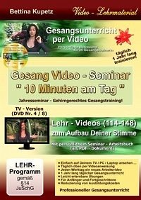 GESANG VIDEO - SEMINAR - DVD Nr. 4
