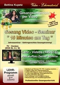 GESANG VIDEO - SEMINAR - DVD Nr. 6