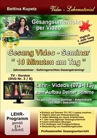 GESANG VIDEO - SEMINAR - DVD Nr. 3