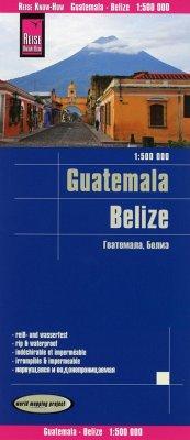 Reise Know-How Landkarte Guatemala, Belize