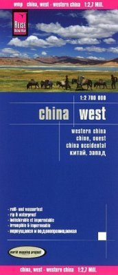 Reise Know-How Landkarte China, West. Western China. Chine, ouest. China occidental