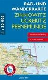 Rad- und Wanderkarte Zinnowitz, Ückeritz, Peenemünde