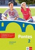 Pontes 2. Arbeitsheft mit Audio-CD