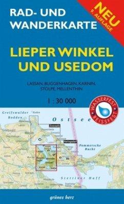 Rad- und Wanderkarte Lieper Winkel und Usedom