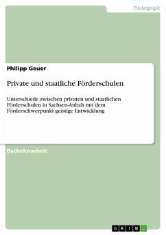 Private und staatliche Förderschulen (eBook, PDF)