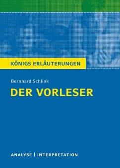 Der Vorleser. Königs Erläuterungen. (eBook, ePUB) - Schlink, Bernhard; Möckel, Magret