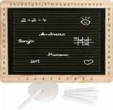 Goki 58950 - Schreibtafel mit Kreide und Schwamm, 5-teiliges Set